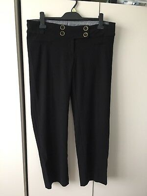New Look Maternity Black Work Trousers Size 12
