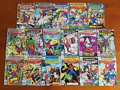 Amazing Spider-Man Between 152 - 179 Lot of 17 Bronze Age Marvel Comics