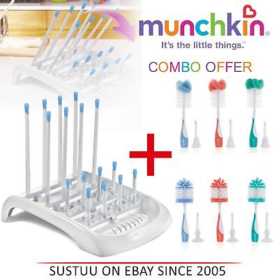 Munchkin Deluxe Drying Rack Fold Flat Baby Bottle & Teat Easy Storage Dry RacK