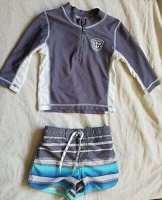 Carter's Brand Baby boy Multicolored 18months swim wear top and bottom.