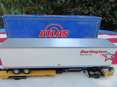 Atlas Spur 0  Front Runner & 45 Ft Trailer  Burlington   O-Scale Eisenbahnen