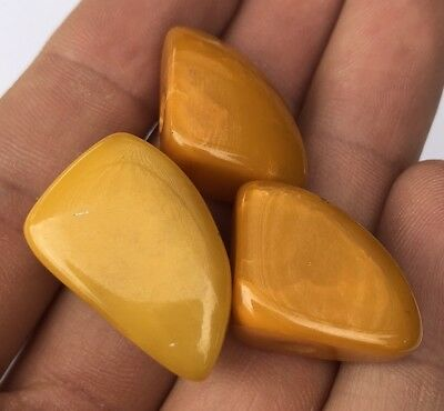RARE ANTIQUE EGG YOLK BUTTERSCOTCH BALTIC AMBER NECKLACE BEADS 11.8 gr
