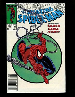 Amazing Spider-Man #301 (News) FN+ Classic McFarlane Cover Silver Sable Lizard