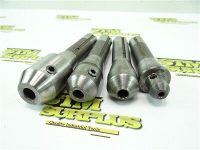 """Lot Of 4 Precision R8 End Mill Holders 3/16"""" 3/8"""" 1/2"""""""