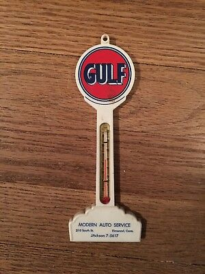 Vintage Gulf Oil Thermometer