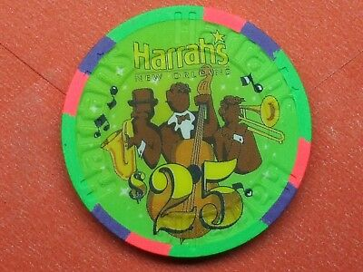 "Uncirculated 1995 $25 Harrah's Casino, New Orleans, LA, 1st, ""live"" chip"