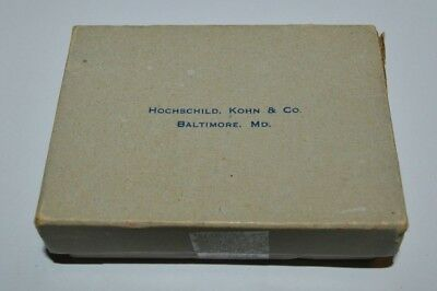 Aged Vintage HOCHSCHILD KOHN & CO Baltimore MD Small Jewelry Box Ultra Rare