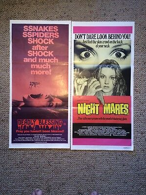 Orig Daybills Movie Posters  NIGHT MARES +Deadly Blessings