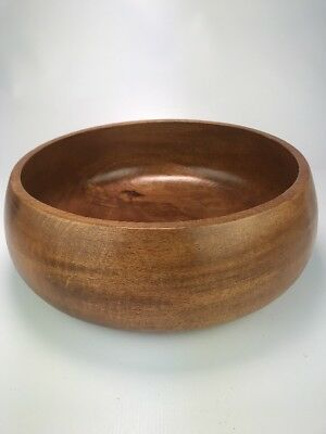 """Vintage Monkey Pod Large Wooden Bowl from Hawaii 12"""" x 4"""" Salad"""