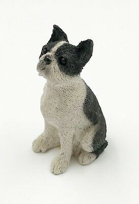 "Vintage Dog BOSTON TERRIER Figurine Stone Critter ""Littles"" 2 1/2"" Tall"