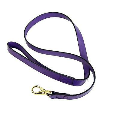 Hartman & Rose Central Park Dog Lead, 3/4-Inch, Grape