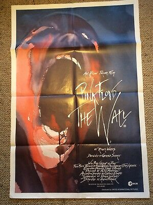 """Orig One Sheeter Movie Poster , """" Pink Floyd THE WALL"""""""