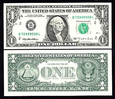 US 1995 Dollar $1 B New York AU Note
