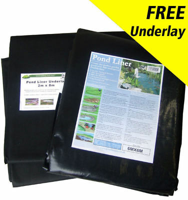 Durable High Quality LDPE Fish Pool Pond Liner 45yr Guarantee with FREE Underlay