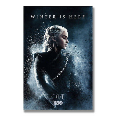 Game of Thrones Season 8 Silk Poster Wall Art Canvas Prints Decoration Pictures