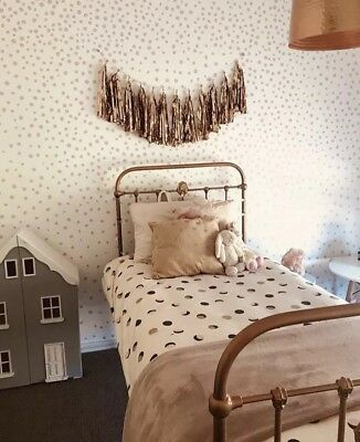 Single bed frame cast iron rose gold