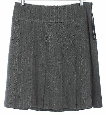 MARC BY MARC JACOBS Gray Pleated Wool Full Skirt Size 6