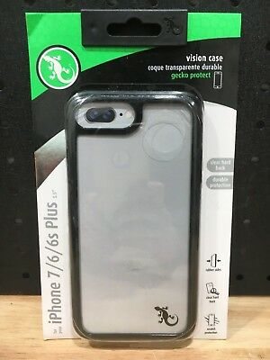 """Gecko Ultra Slim Case Iphone 7 / 6 / 6S Plus 5.5"""" Gg840124 Grey And Black - New"""