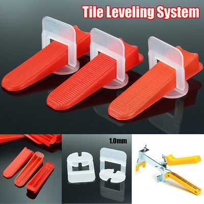 1.0mm Tile Leveling System Spacer Clips Wedges Pliers Wall Tiling Flooring Tool