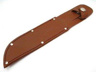 """Brown Leather Belt Sheath For Straight Fixed Knife Up To 6"""" Blade SH259"""