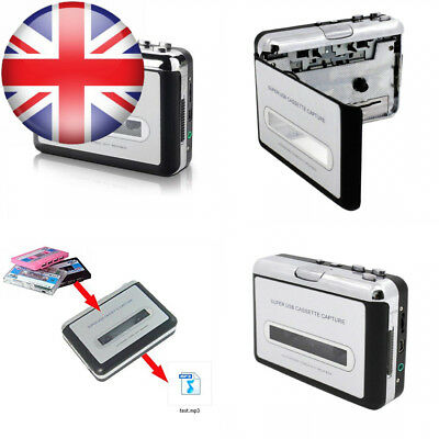 IIEasy Portable Mini USB Audio Cassette Tape-to-MP3 Converter Player Adapter...