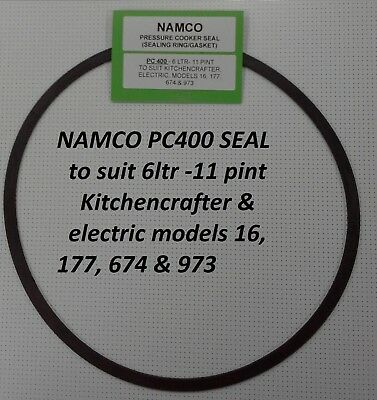 NAMCO (PC400) Pressure Cooker Seal, NEW - kitchencrafter,elect mod 16,177,