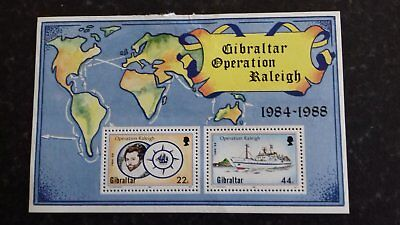 Stamps Gibraltar unused - Operation Raleigh 1988