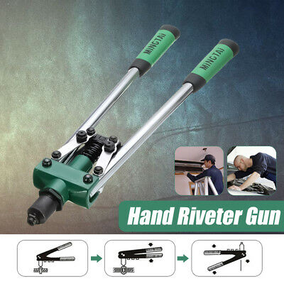 17'' Heavy Duty 1/4 Inch Hand Riveter Tool Threaded Pop Gun Rivet Nut Long Arm