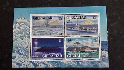 Stamps Gibraltar Mint condition - WW2 Warships 1995