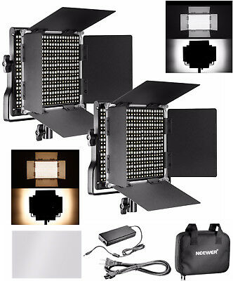 2 x Neewer Photography Bi-color Dimmable 660PCS Dimmable LED Light Panel Barn US