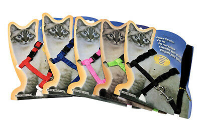 Adjustable Harness Lead Leash Set Cat Kitten Puppy Pet Nylon Small safety clip