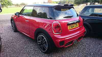 For BMW Mini Cooper F56 S JCW Style Roof Visor Spoiler Rear Wing Lip FRP Fiber