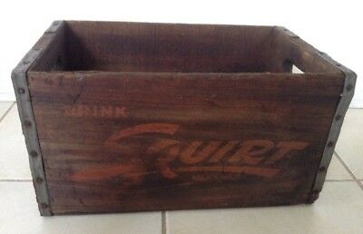 Old Vintage Squirt Soda Pop Wood Carrier Crate - Advertising - Lebanon Pa
