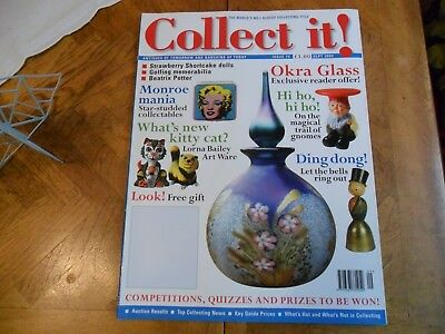 Collect It Mag #74 Okra Glass Marilyn Monroe Beatrix Potter Lorna Bailey Golfing