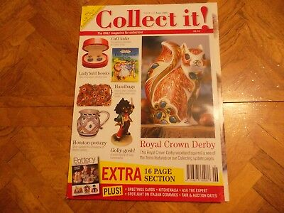 Collect It Mag #107 Royal Crown Derby Ladybird Books Handbags Golly Honiton Pot