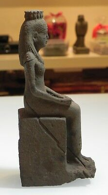 Zurqieh -As6557- Ancient Egypt. Stone Statue Of Isis. 600 - 300 B.c