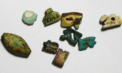 ZURQIEH -AS6560- Ancient Egyptian lot of Faience amulets . 600 - 300 B.C