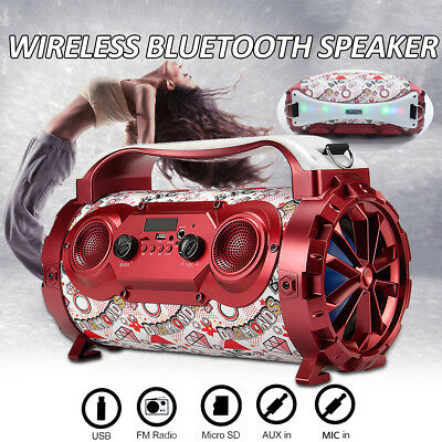 Wireless Bluetooth Speaker Bass Subwoofer Stereo USB/AUX/TF Party Dance Meeting