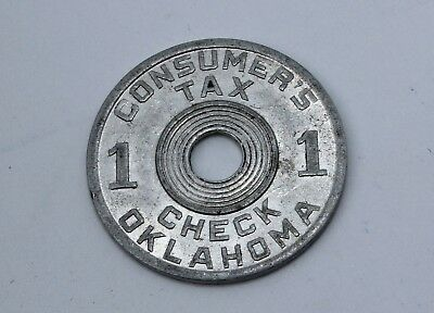 Oklahoma Consumer's Tax Check Token  Free Shipping