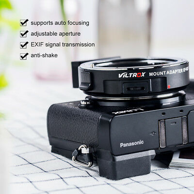 VILTROX EF-M2 0.71x Auto Focus Adapter Accessory for Canon Lens to M4/3 Cameras