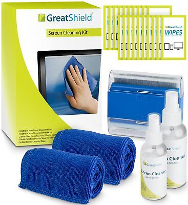 Screen Cleaning Kit, GreatShield LED LCD Electronic Cleaner w/ Microfiber Cloth