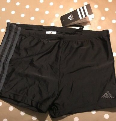 ADIDAS SWIMMING TRUNKSBRIEFS Black With Blue Trim, Size D6