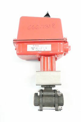 Flow-tek 8004 Pneumatic 1000 Steel 3/4in Npt Ball Valve