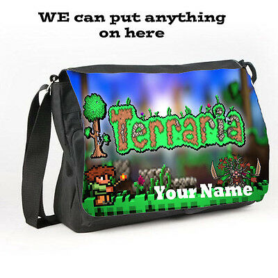 Personalised Custom Messenger bag Terraria style W40 x H30cm Back to school