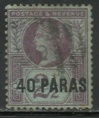 BRITISH LEVANT 1887 40pa On 2.5d SCOTT #4 USED *LR1