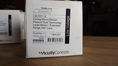 ACUITY SENSOR SWITCH CM PDT 10 Occupancy Sensor, PIR/Mic, 2463sq ft, White