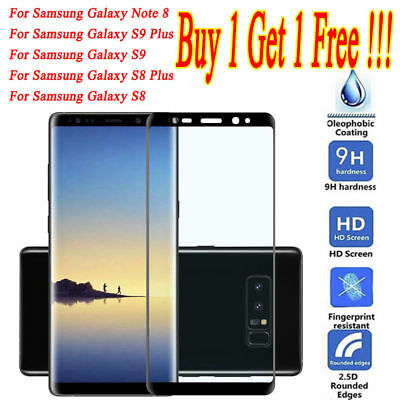 For Samsung Galaxy S9 S8 S7 S6 Edge Plus Tempered Glass Screen Protector Film G1