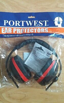 Portwest Comfort Ear Protector Safety Muffs Plugs Protection Work Wear PW43