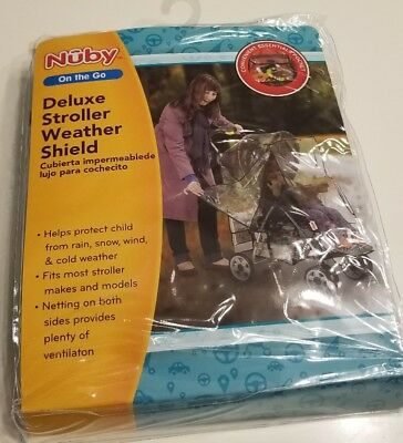 Nuby on the go Deluxe Stroller Weather Shield new