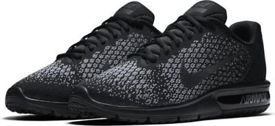 reputable site eac9b 5bfb4 Nike Air Max Sequent 2 New Men s 852461 001 Black Running Shoes Size 11